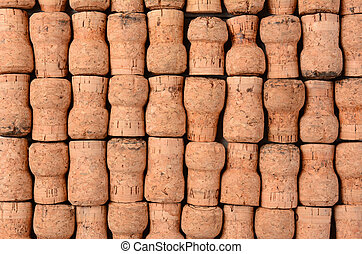Champagne Corks - Closeup of a group of Champagne Corks...