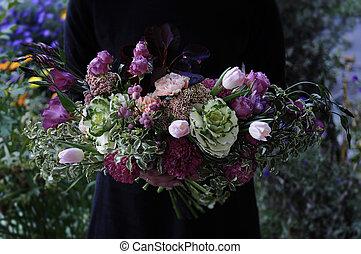 Flower wedding arrangement