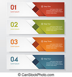 clean number banner vector - Design clean number banners...