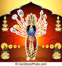 Shubh Navratri Background vector illusration