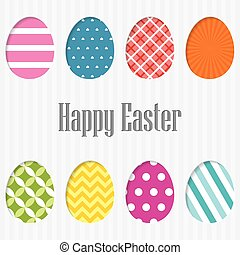 Happy Easter Card. vector. Simple and editable background.