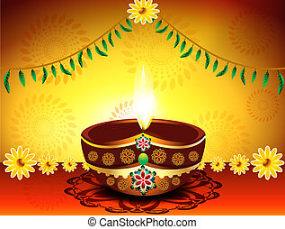 abstract Diwali Festival Background vector illustration