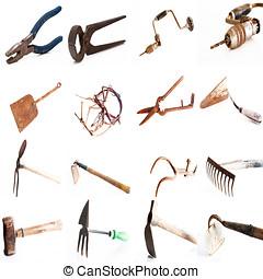拼貼藝術, 老, 工具