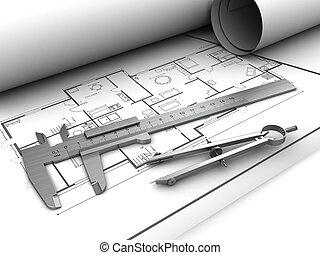 desenhos técnicos, ferramentas