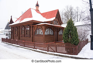 Traditional old log house