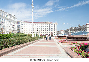 Independance Square, Minsk - Independance Square in the...