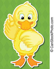 Duck - Illustration of a duck with background