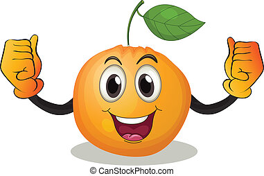Orange - Illustration of an orange with a face