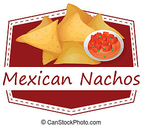 Mexican Nachos - Illustration of mexican nachos