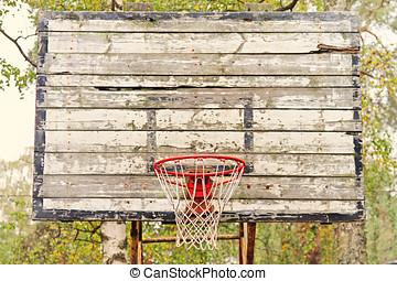old vintage basketball hoop