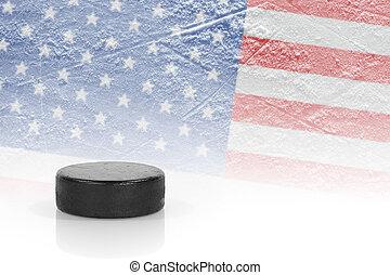 Hockey, kobold, amerikanische, Fahne