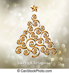 Christmas tree silver holiday background