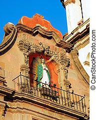 Temple of the Congregation in Queretaro, Mexico. - Virgin of...