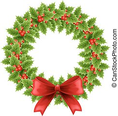 Christmas chaplet - Vector illustration Christmas chaplet