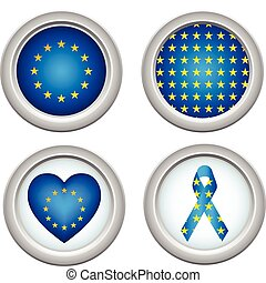Europe Buttons