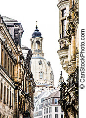 Dresden Frauenkirche - The cupola of the Frauenkirche in...