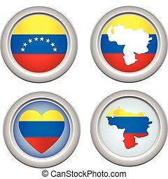 Venezuela Buttons
