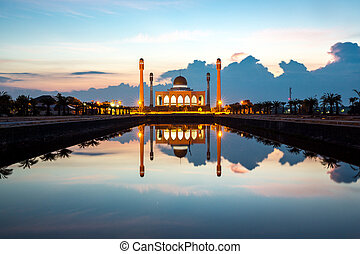 Central mosque Songkhla Thailand - Central mosque with...