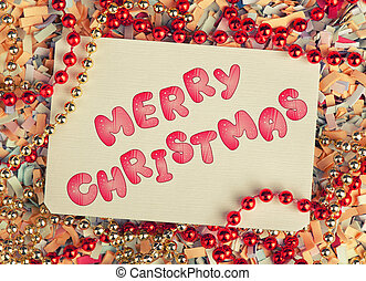 Merry Christmas greeting card Holiday background with text