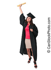 Graduate - Beautiful young woman in her graduation robes