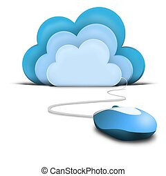 Cloud with a mouse connection