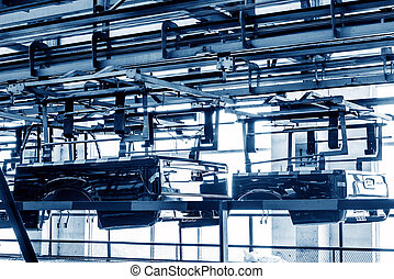 Pickup truck production workshop - Factory floor, pickup...