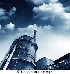 Power plant smokestacks - Power plant cooling towers and...