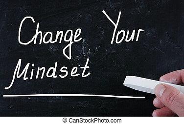 cambio, su, mindset