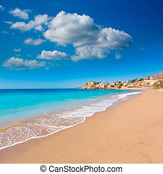 Bolnuevo beach in Mazarron Murcia at Spain - Bolnuevo beach...