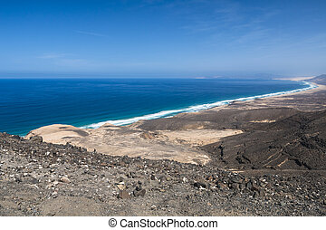 Cofete View, Fuerteventura - View from the mountains to the...