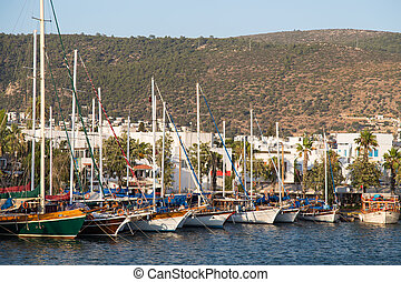 Boats in Bodrum Marina, Aegean Coast of Turkey