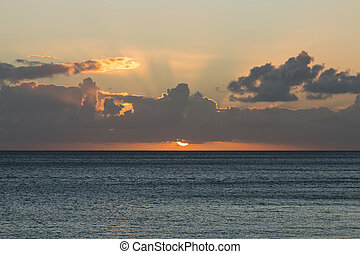 Jandia Beach Sunset, Fuerteventura - Sunset at Jandia Beach...