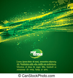 vector abstract green background with shiny sparkles