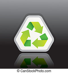 vector illustration of a green recycle symbol