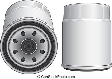Oil Filter-Automobile - Illustration of an oil filter used...