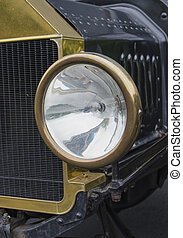 Early 1900s headlight - Detail shot of an old car