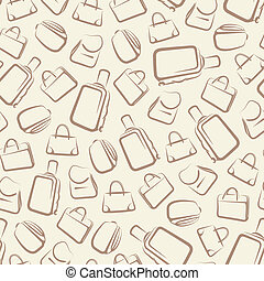 abstract vector background with bags. seamless pattern