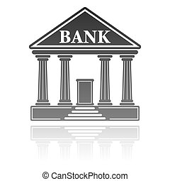 vector illustration of bank building financial concept