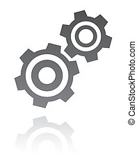 vector illustration of gear icon. industrial concept -...