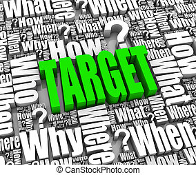 Customer Target - Group of marketing related 3D words Part...