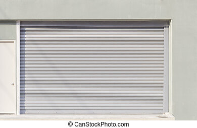 shutterdoor - Shutter door or rolling door (gray color) day...
