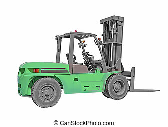 forklift - Forklift truck isolated on white background