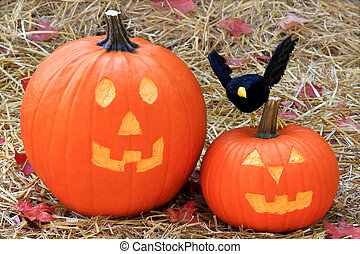 Halloween decoration - Decoration for Halloween from carved...