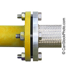 connector - Flexible connector of steel pipe isolated...