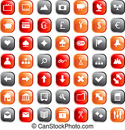 web icons set - Collection of different icons for using in...
