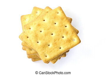 crackers - cracker  on a white backgrond