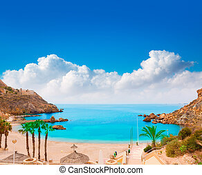 Cartagena Cala Cortina beach in Murcia Spain - Cartagena...