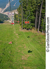 chairlift - A chairlift fall, Carpathians, Ukraine