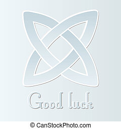 good luck - traditional celtic knot with good luck text