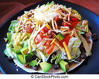 Tostada Compuestas - Diabetic tostada full of yummy...